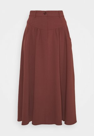 A-line skirt - blushy tan