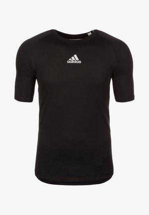 ALPHASKIN SPORT - Basic T-shirt - black/white
