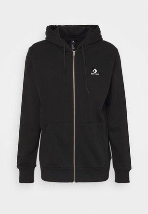 STAR CHEVRON EMBROIDERED - veste en sweat zippée - black