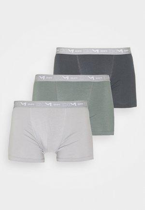 3 PACK - Pants - bleu denim/rouge topaze/acier