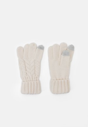 CABLE UNISEX - Gloves - soft ivory