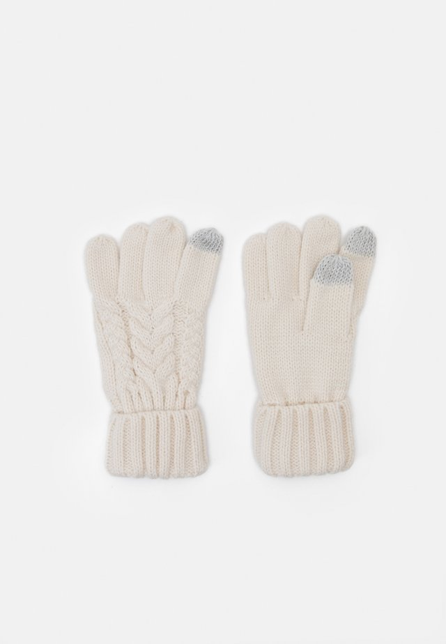 CABLE UNISEX - Guanti - soft ivory