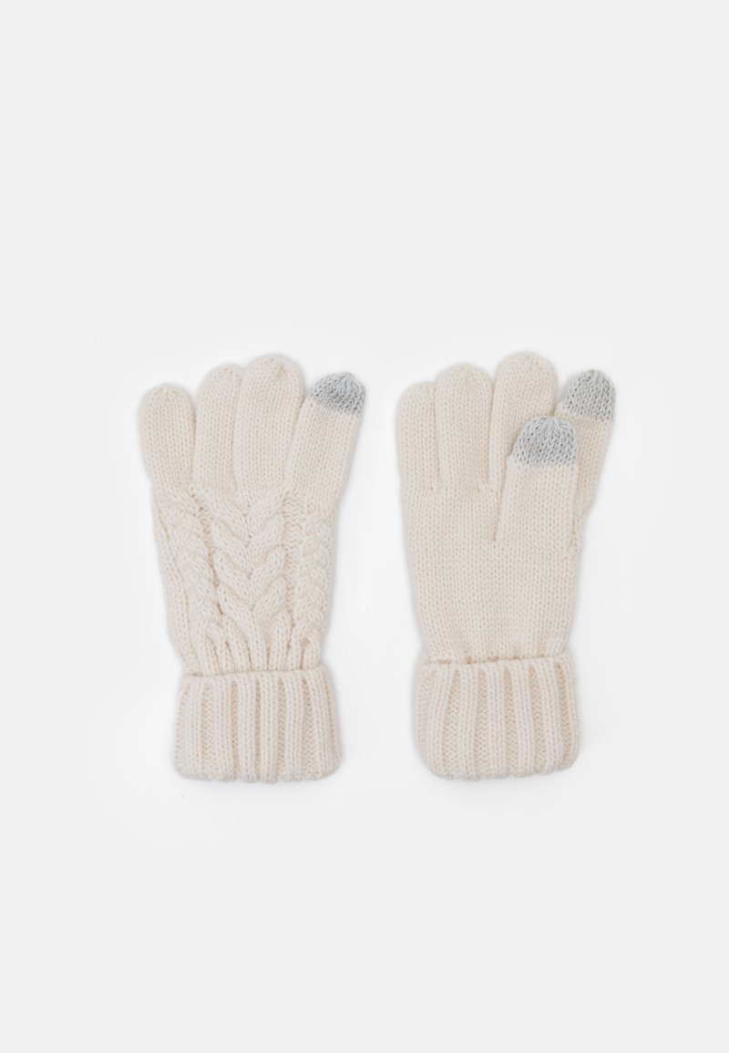 GAP - CABLE UNISEX - Gloves - soft ivory