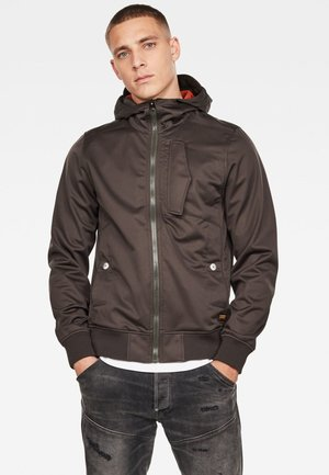SCUTAR SOFTSHELL - Outdoor jacket - raven/antic auburn