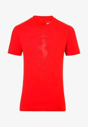 FERRARI HERREN BIG SHIELD  - Print T-shirt - red