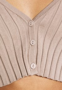 Monki - DORIS CROPPED CARDIGAN - Cardigan - mole dusty light - 6