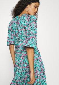 Closet - GATHERED TIERED DRESS - Day dress - turquoise - 3