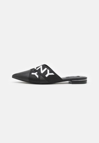 ALYA FLAT MULE - Mules - black/white