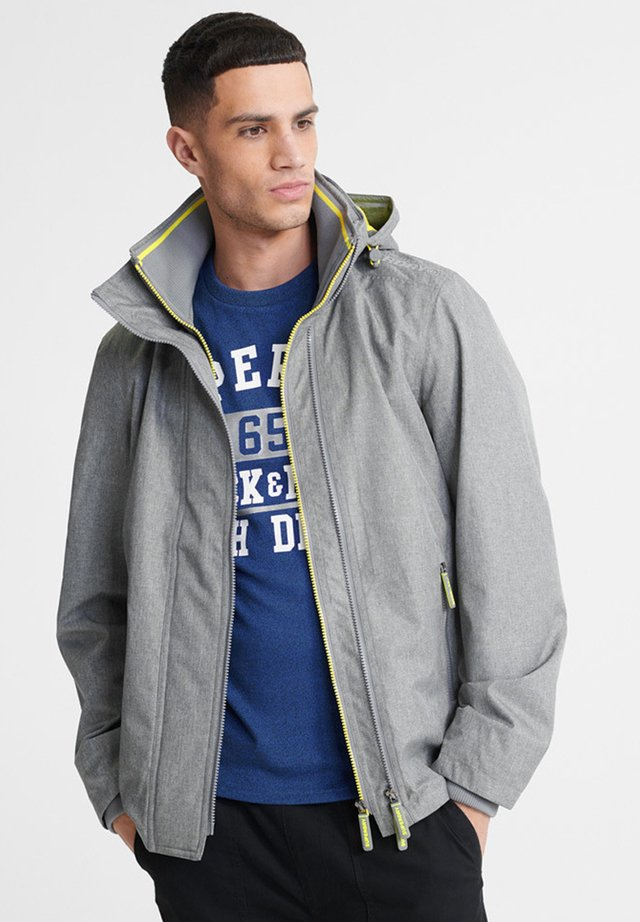 SUPERDRY TECH HOOD POP ZIP SD-WINDCHEATER JACKET - Windbreaker - grey grit