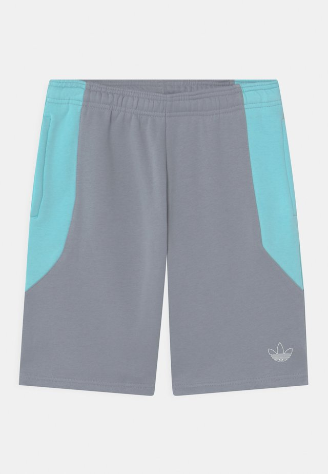 COLOURBLOCK UNISEX - Shorts - light grey/clear aqua
