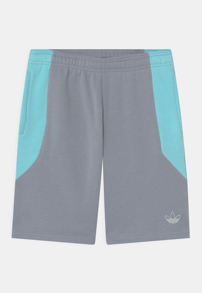adidas Originals - COLOURBLOCK UNISEX - Shorts - light grey/clear aqua