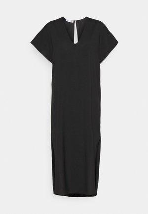 VALERIE LONG SLIT DRESS - Day dress - black