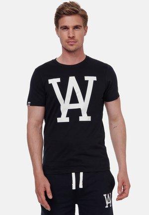 WOLDO ATHLETIC - T-shirt print - schwarz-weiß
