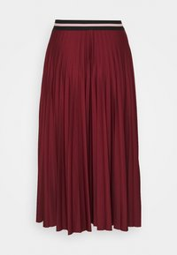 Esprit - PLEATED SKIRT - A-line skirt - bordeaux red - 1