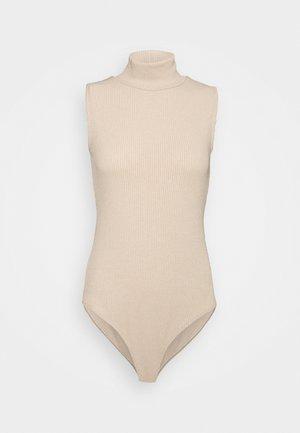 SLEEVELESS TURTLENECK BODY - Top - beige