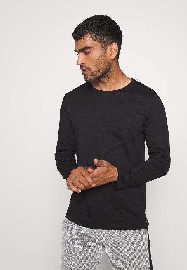LONGSLEEVE LINE - Maglietta a manica lunga - schwarz
