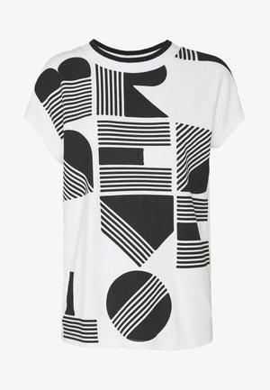 SALPHA PRINT - T-shirt z nadrukiem - white/black