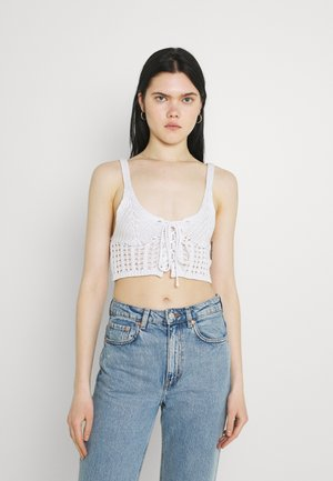 LACE UP BRALET - Top - white