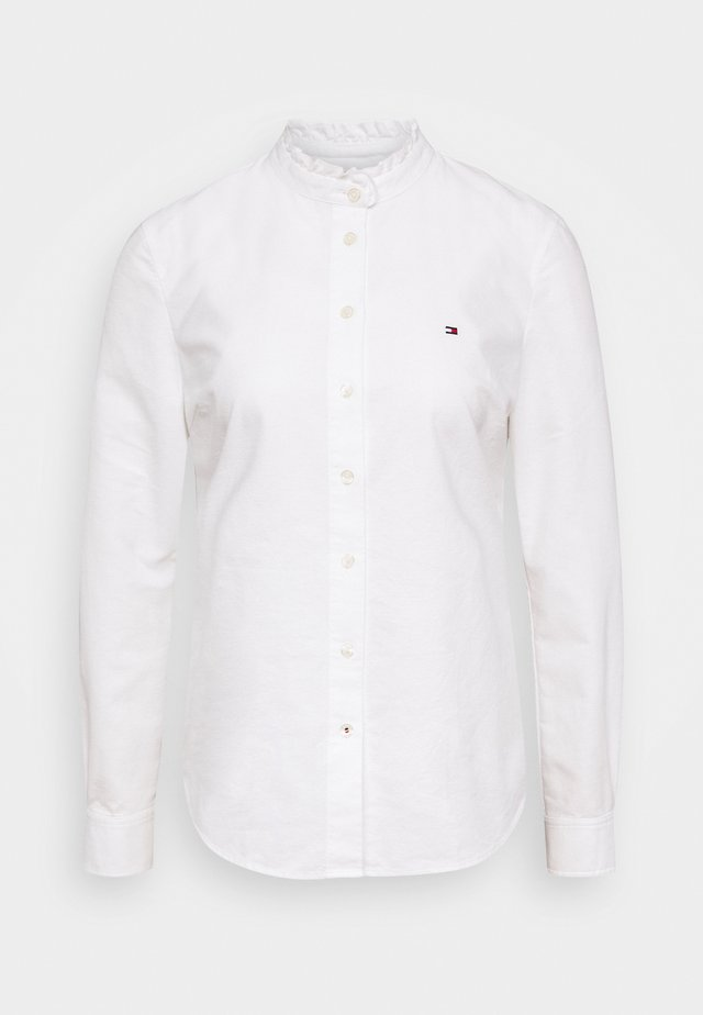 RECYCLED OXFORD REG - Button-down blouse - ecru