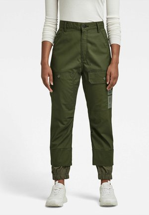 BOYFRIEND - Cargo trousers - dk bronze green
