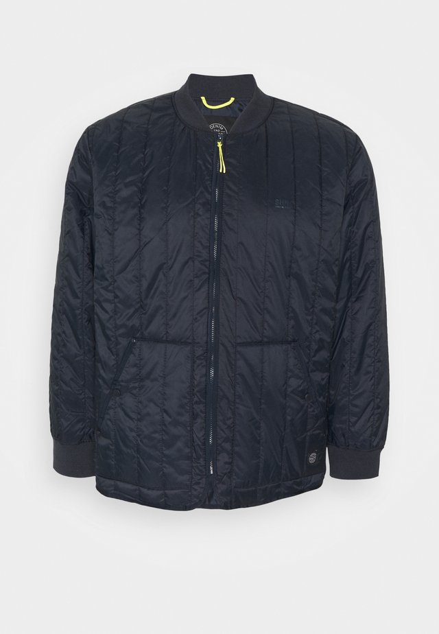 QUILTED JACKET - Jas - navy