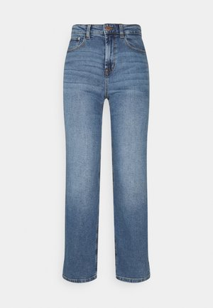 ONLMEGAN WIDE ANKLE - Straight leg -farkut - light medium blue denim