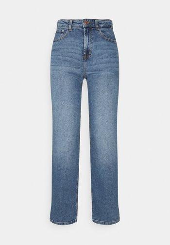 ONLMEGAN WIDE ANKLE - Straight leg jeans - light medium blue denim