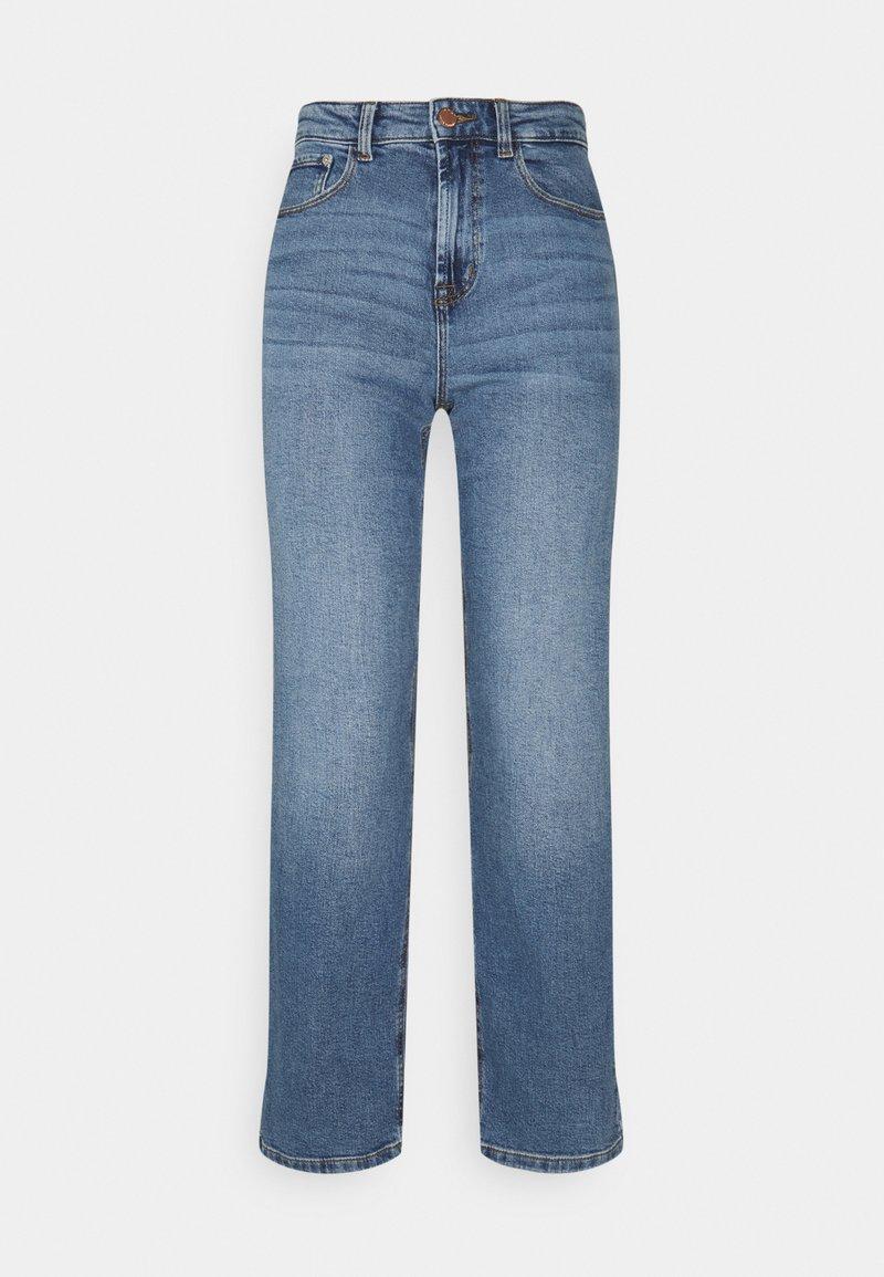 ONLY - ONLMEGAN WIDE ANKLE - Jeans straight leg - light medium blue denim