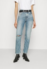 Marc O'Polo DENIM - TOERE - Straight leg jeans - reddish light blue - 0