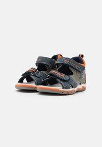 TOM TAILOR - Sandals - navy/grey/neon orange - 1