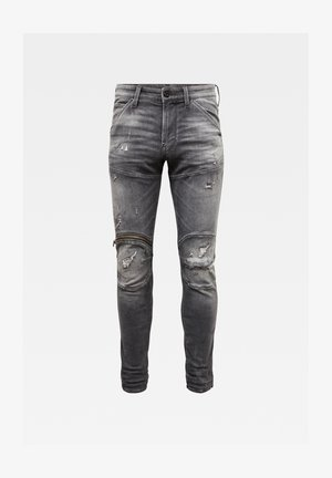 5620 3D ZIP KNEE SKINNY ORIGINALS - Jeans Skinny Fit - vintage ripped basalt