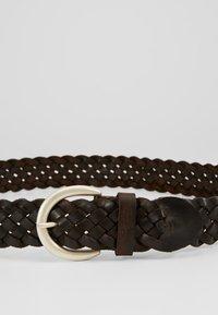 TOM TAILOR - Braided belt - dark brown - 4
