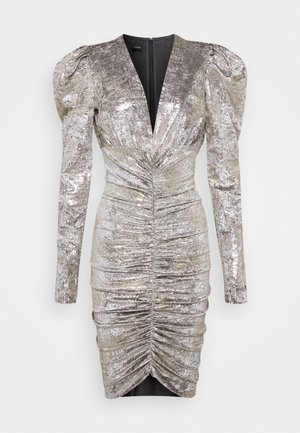 CICLONE DRESS - Cocktail dress / Party dress - grigio/oro