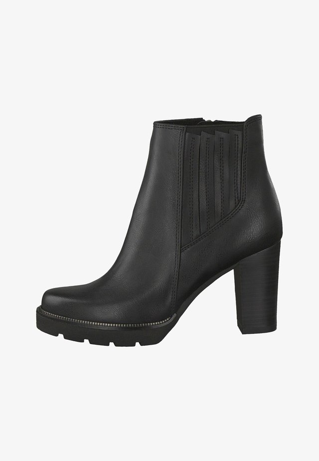 CHELSEA BOOT - High heeled ankle boots - black antic