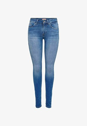 ONLBLUSH LIFE MID SKINNY   - Skinny-Farkut - medium blue denim