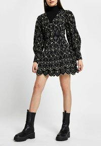 River Island - Shirt dress - black - 1