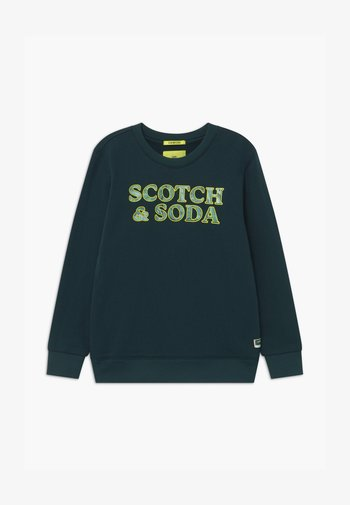 CREWNECK MARBLE ARTWORK - Sweatshirt - nordic green