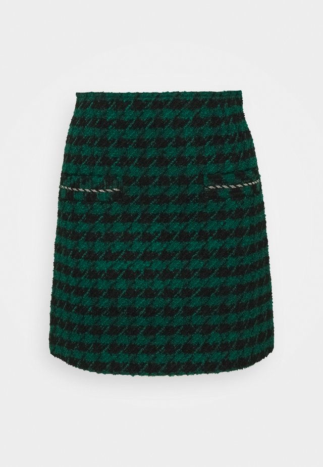 Mini skirt - vert/noir