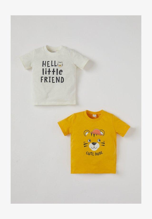 2PACK - Camiseta estampada - ecru