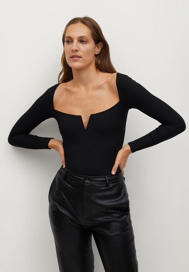 Mango - UVE - Long sleeved top - black