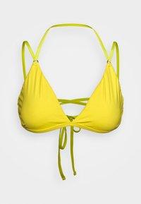 PLUNGE BACK BRA - Bikini top - lemon