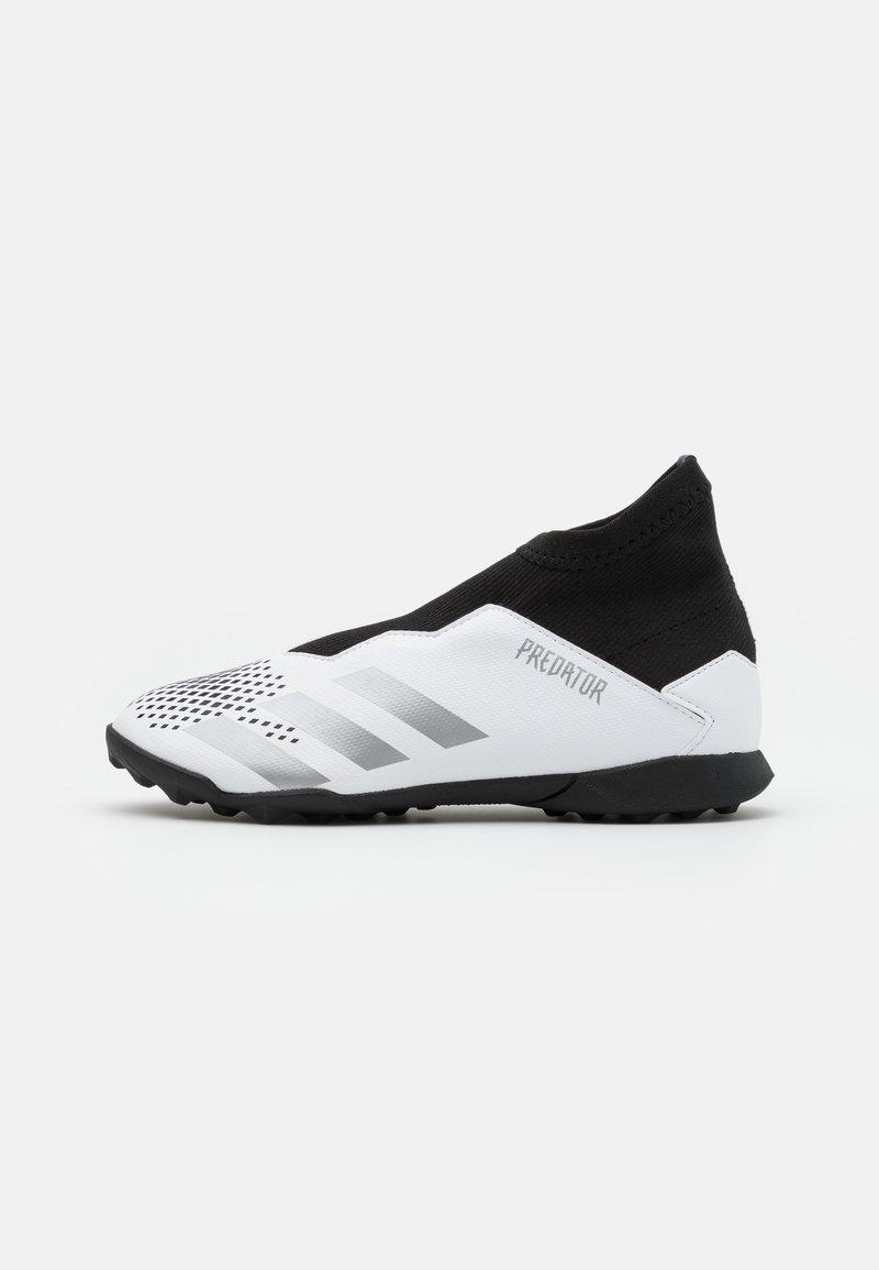 adidas Performance - PREDATOR 20.3 FOOTBALL BOOTS TURF UNISEX - Astro turf trainers - footwear white/silver metallic/core black