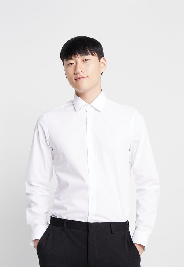 POPLIN  SLIM FIT - Kauluspaita - white