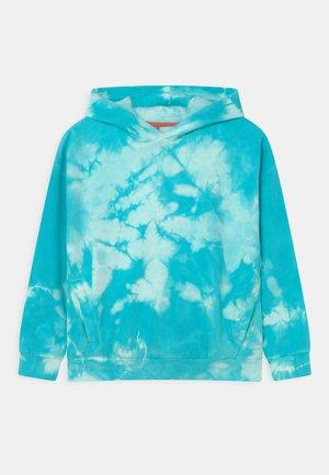 TIE DYE HOODIE - Sweatshirt - bright turquoise