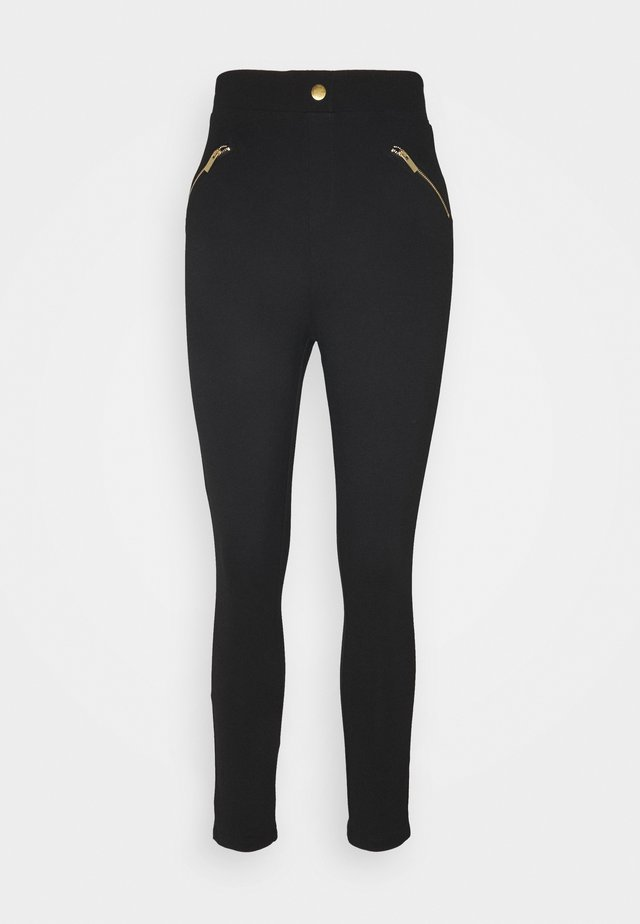 PUNTO LEGGING WITH ZIP DETAIL - Trousers - black