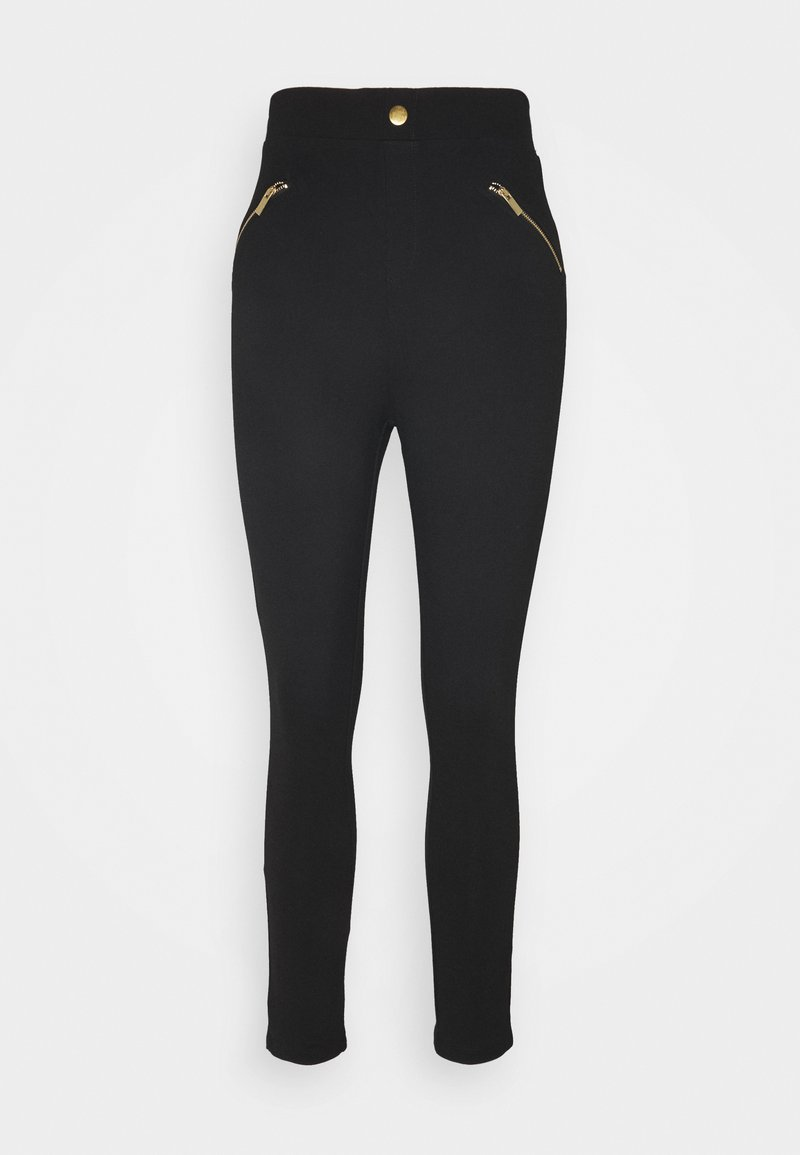 Anna Field - ZIP DETAIL PUNTO JEGGING - Pantalones - black