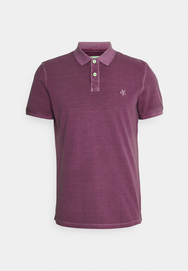SHORT SLEEVE BUTTON - Polo shirt - super fuschia