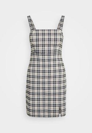 CHAIN BARE STRUCT - Vestido informal - black/tan