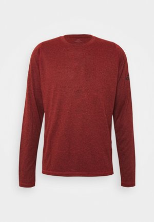 AEROREADY LONG SLEEVE - Funktionsshirt - mottled red