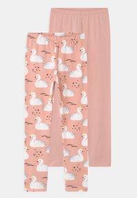 Walkiddy - PRINCESS SWANS 2 PACK - Leggings - Trousers - pink - 0